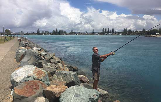 Fishing at Forster
