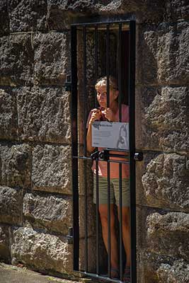 Debbie behind bars